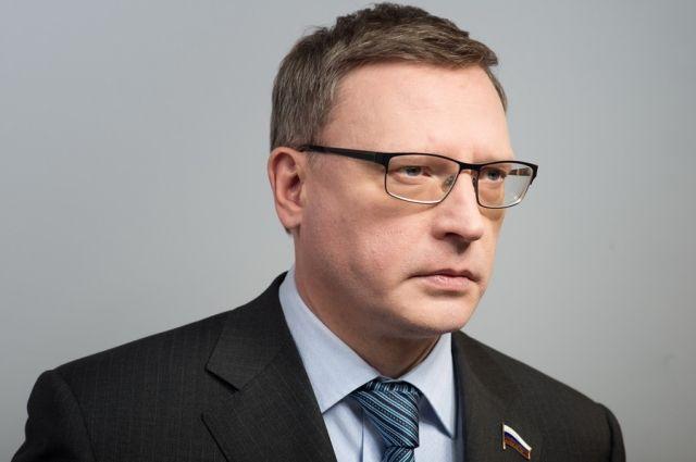 Первое объявление врио губернатора Буркова вОмске