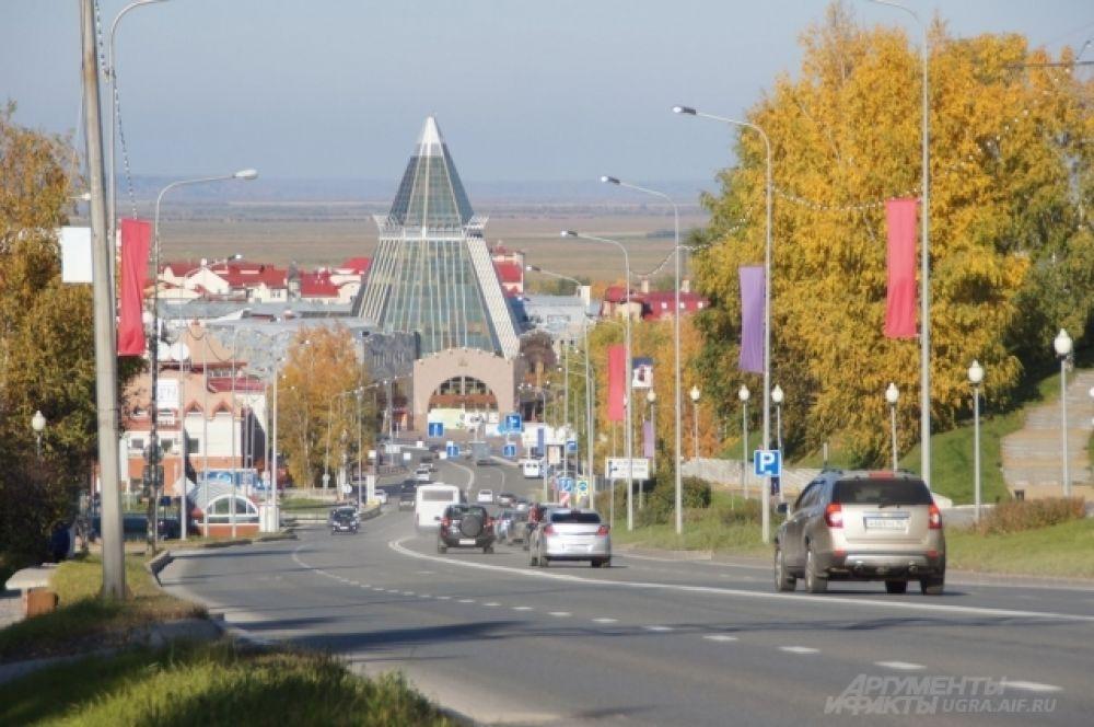Улица Гагарина. Спуск в центр города