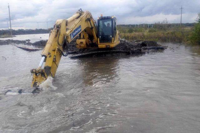 ВЗеленоградском районе устранили последствия подтопления поселков