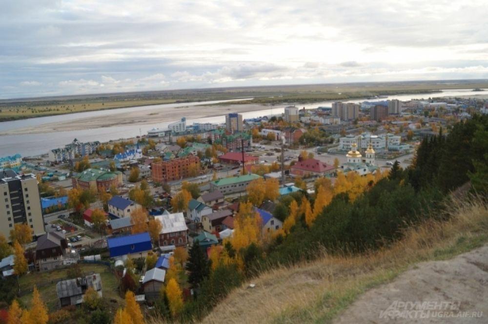 Вид на Иртыш с горы Самаровкого чугаса