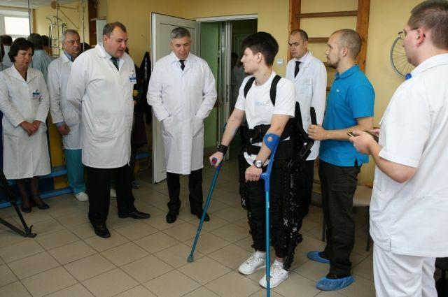 ВТульской области начали использовать  экзоскелеты для реабилитации людей сограниченными возможностями