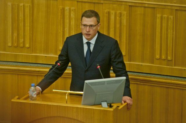 Впервые и. о.губернатора выступает в правительстве Омской области.