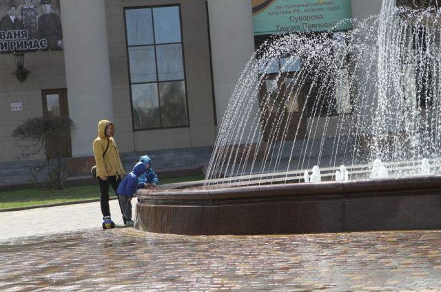 ВКемерове отключили часть фонтанов