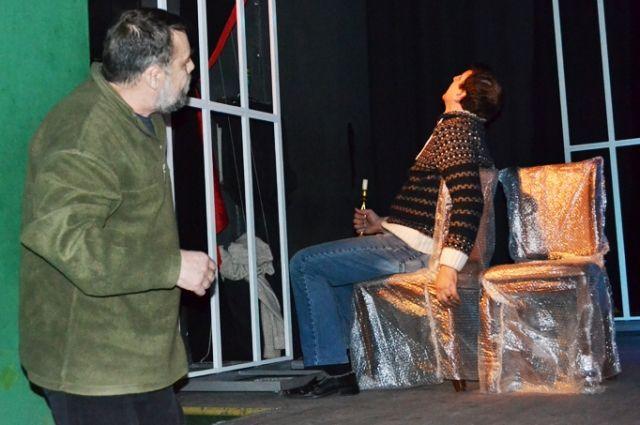Репетиция спектакля «Дни Турбиных». Поставить эту пьесу Булгакова было давней мечтой коллектива Казачьего театра.