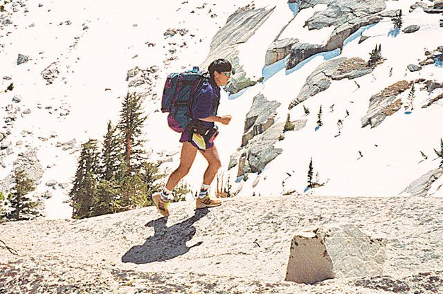 Марат Жыланбаев на горе Уитни, Сьерра-Невада, США, 1994 г.