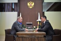 Встреча Владимира Путина и Михаила Ведерникова.