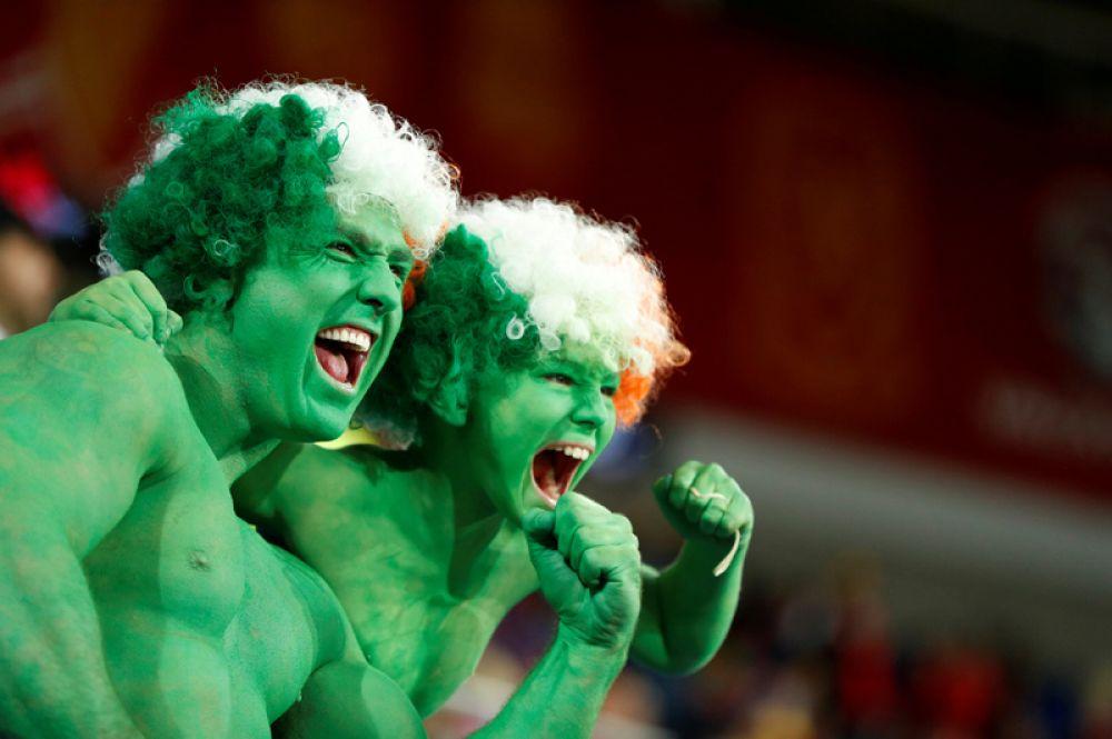 9 октября. Футбол, квалификация на чемпионат мира 2018 года. Болельщики на матче Уэльс против Ирландии.