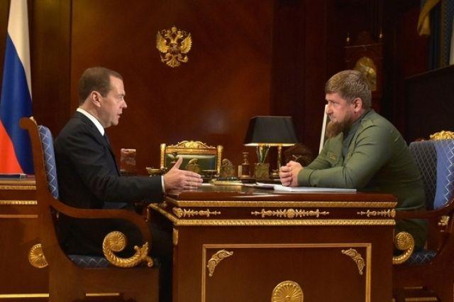 Медведев и Кадыров обсудили развитие образования в Чечне
