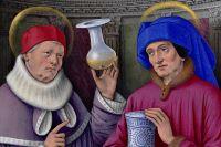 Икона «Святые Косма и Дамиан». Жан Бурдишон.