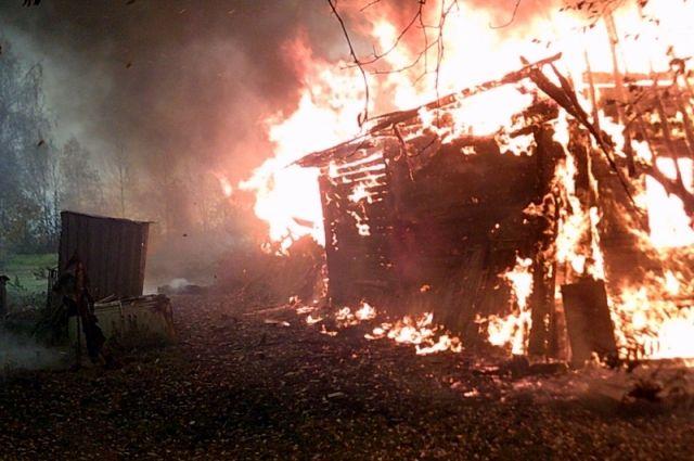 Впожаре под Пензой умер мужчина