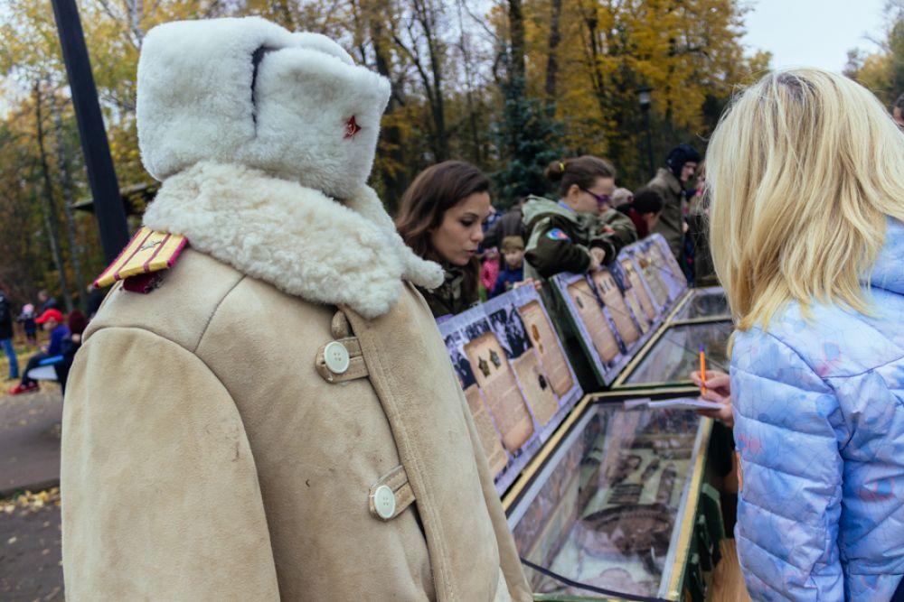 Здесь же работала выставка, посвященная Великой отечественной войне.