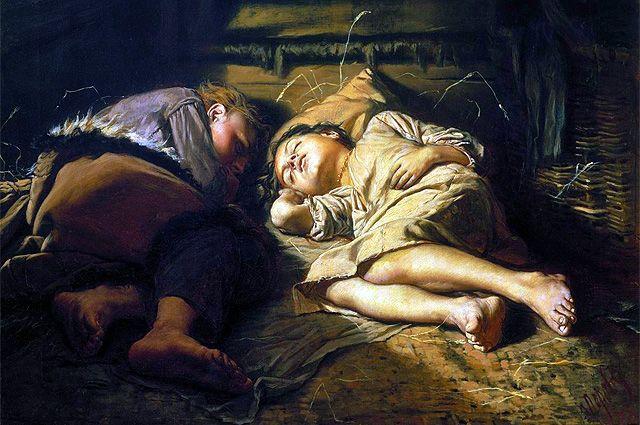 «Спящие дети». Василий Перов, 1870 год.