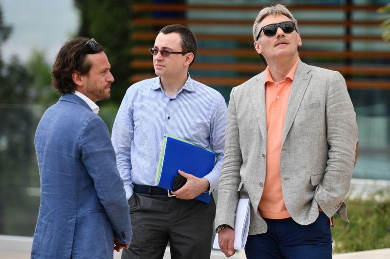 Дмитрий Песков во время посещения международного детского центра «Артек» в Крыму. 2017 год.