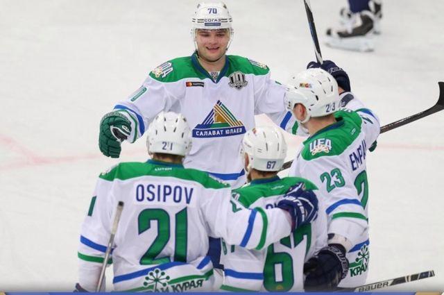 «Салават Юлаев» обыграл столичное «Динамо» вматче чемпионата КХЛ