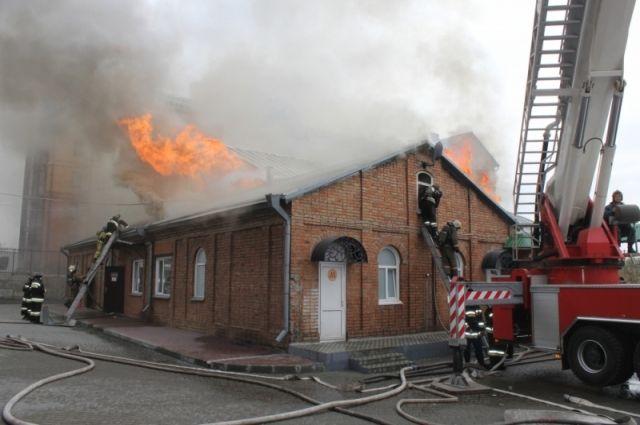 ВТюмени вовремя пожара пострадал человек