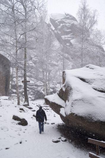 Красноярцы идут на Столбы за первым снегом.
