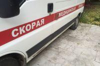 Автомобиль скорой помощи попал в ДТП.