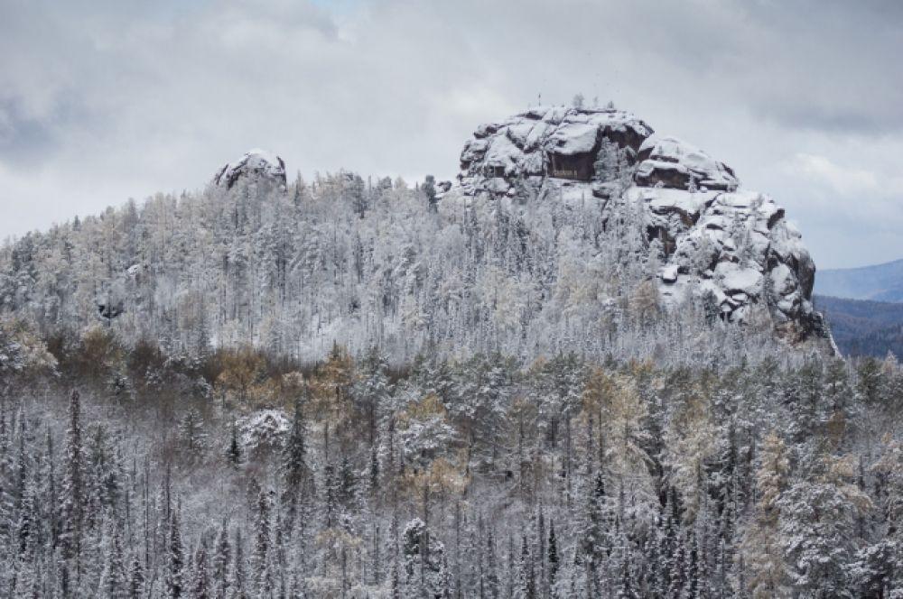 На Столбах началась зима.