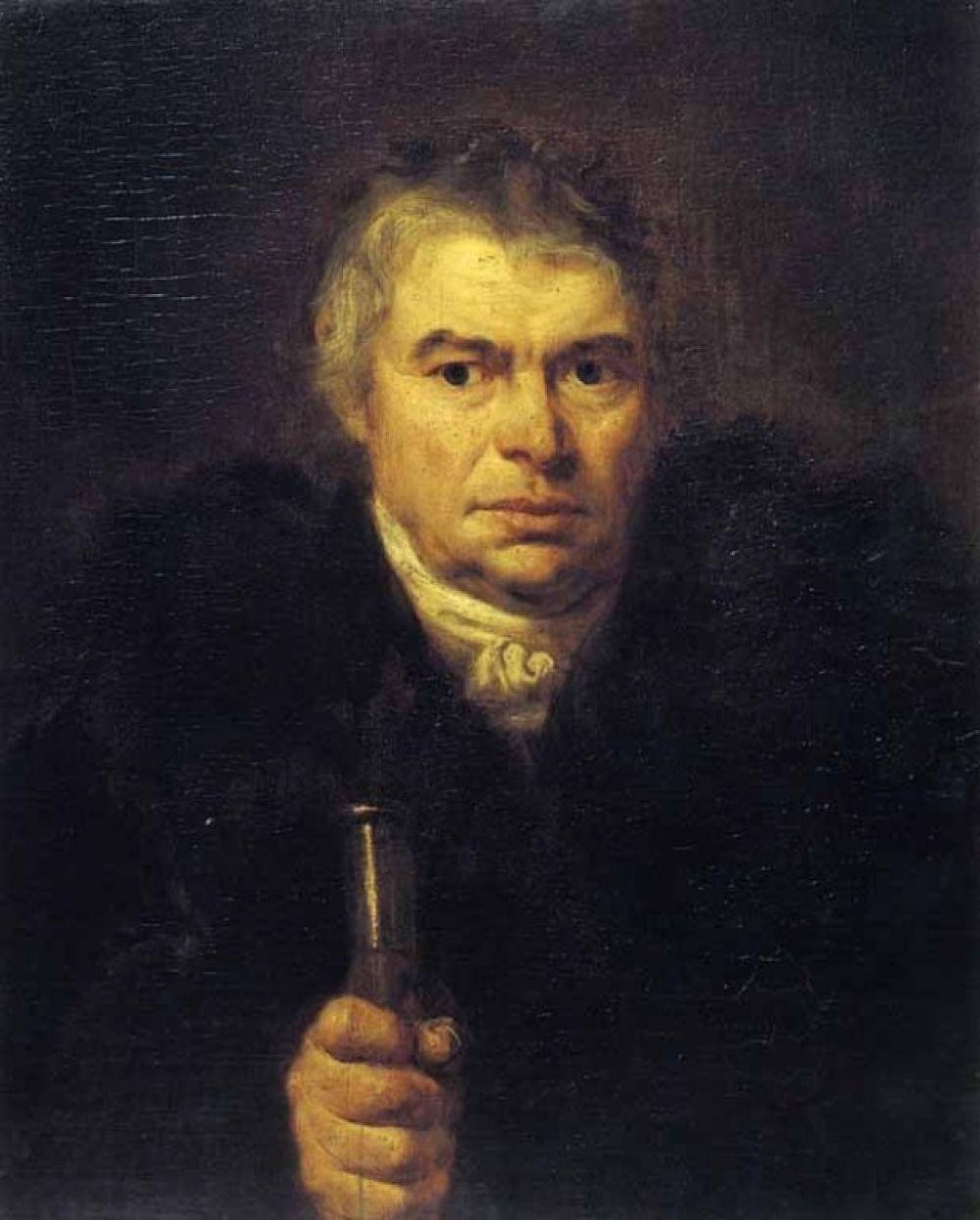 Портрет А. К. Швальбе (1804). Этой картиной Орест дебютировал как портретист. Молодому художнику позировал Адам Швальбе, в семье которого Орест жил и воспитывался.  Стоит отметить, что от Швальбе художник унаследовал отчество. А фамилию он получил позже от прозвища «Копорский», произошедшего от названия Копорье, местечка, где он был крещён.