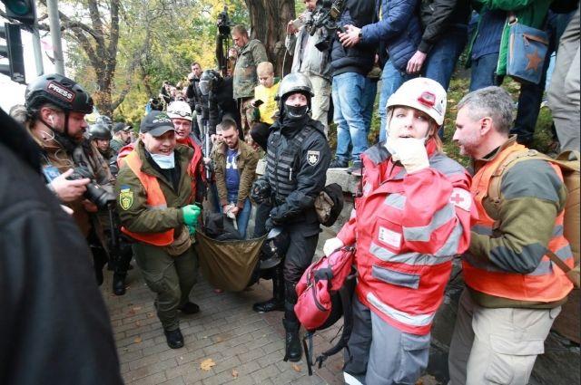 МВД: В итоге столкновений под Радой пострадал правоохранитель