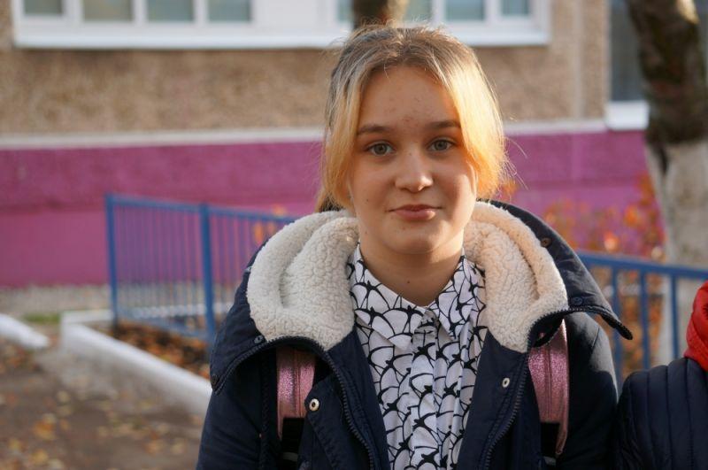 Ученица 7 класса Милана Силий – одна из активисток, которая участвовала в создании проекта «Школа-сад».