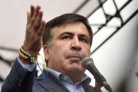 Михаил Саакашвили выступает во время акции в Киеве.
