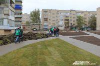 Двор в третьем микрорайоне города Донецка РФ – один из самых больших в Ростовской области.