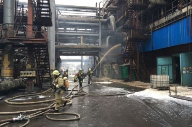ВБерезниках потушили пожар вцехе завода «Азот»