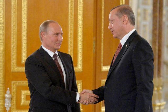 Путин и Эрдоган удовлетворены двусторонним сотрудничеством