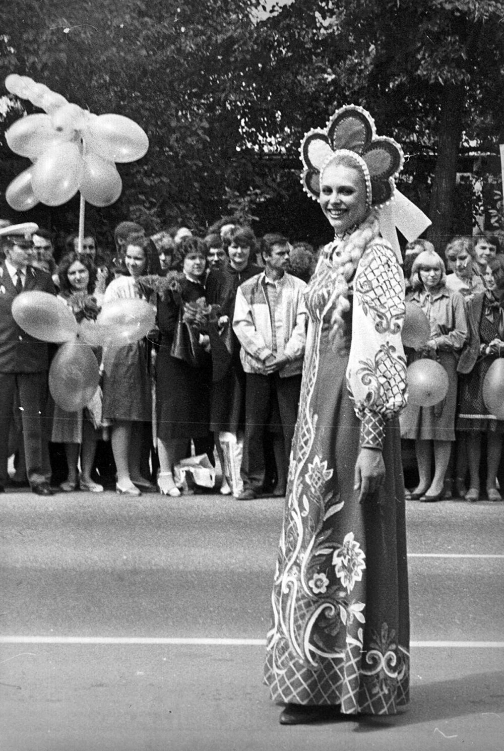 1985 год. Хозяйка фестиваля.