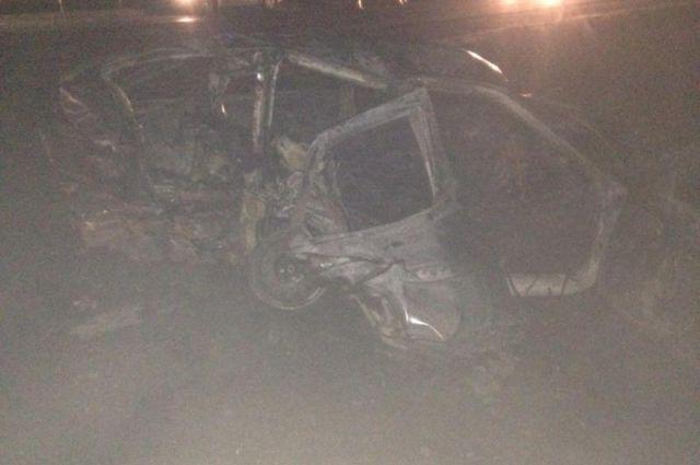 Сгорела машина лихача, спровоцировавшего тройное ДТП наСтаврополье
