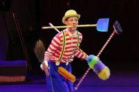 В цирке клоун дирижирует настроением публики.