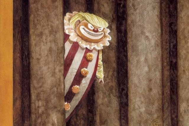 New Yorker накануне Хэллоуина выпустит обложку сТрампом вобразе клоуна