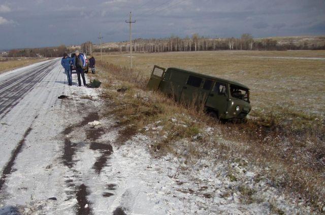 ВБашкортостане УАЗ опрокинулся при столкновения с«Калиной», шофёр умер наместе