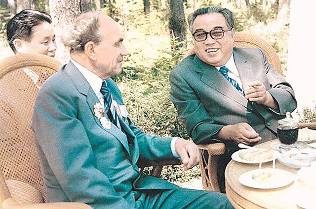 Встреча с Ким Ир Сеном.