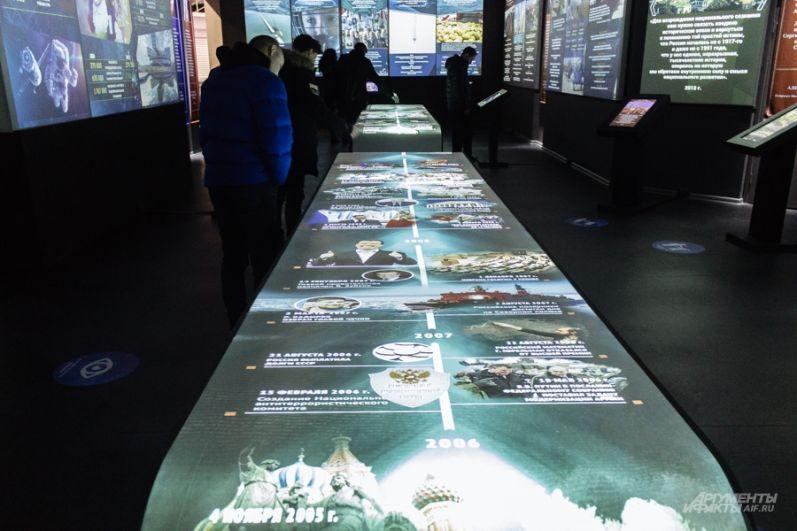 Мультимедийная выставка это - очки виртуальной реальности, интерактивные столы, рассказывающие о крупнейших проектах СССР, интерактивные приложения о культуре быта второй половины ХХ века, а также мультимедийные книги об эстраде, театре и спорте.