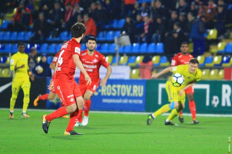 Домашний матч ростовчане завершили со счётом 2:2.