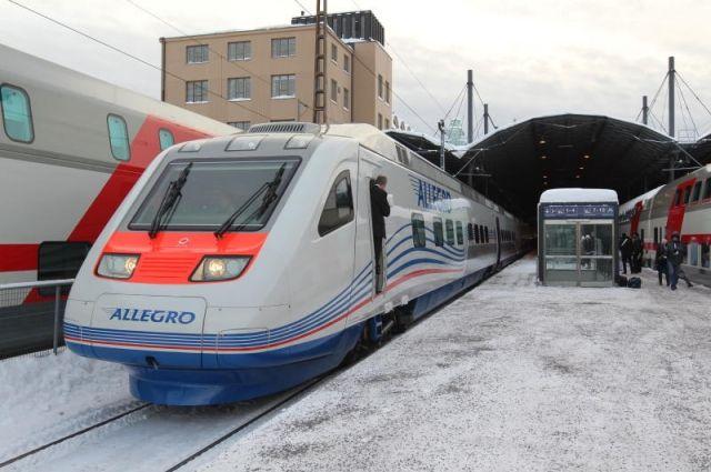 Два поезда «Аллегро» изФинляндии отменили