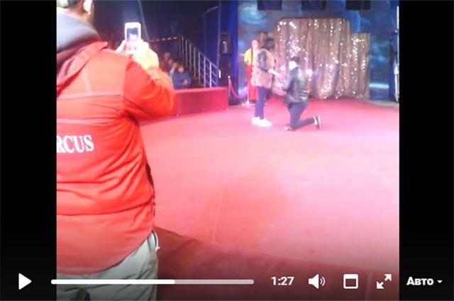 Смолянин сделал предложение руки исердца возлюбленной наарене цирка