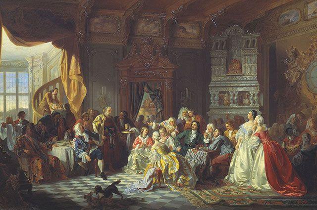 «Ассамблея при Петре I». Станислав Хлебовский.