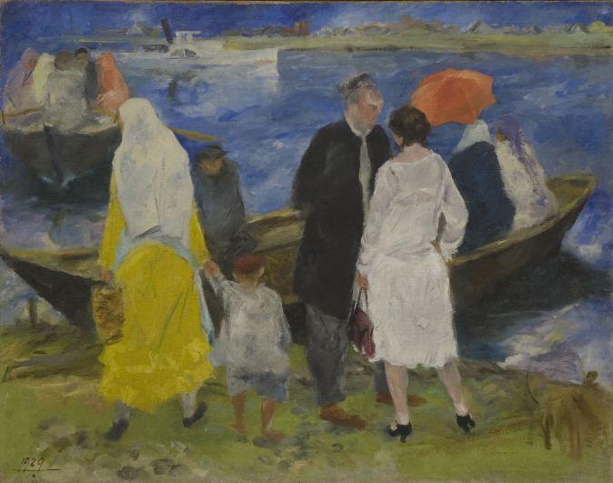 Баки Урманче, «У лодочной переправы», 1929 год.