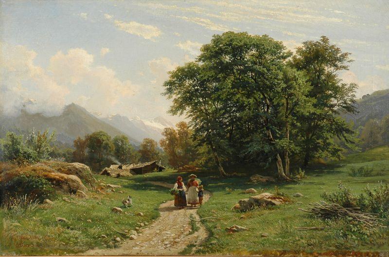 Иван Шишкин, «Швейцарский пейзаж», 1866 год.