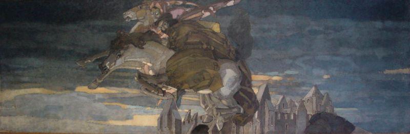 Михаил Врубель, «Полет Фауста и Мефистофеля», 1896 год.