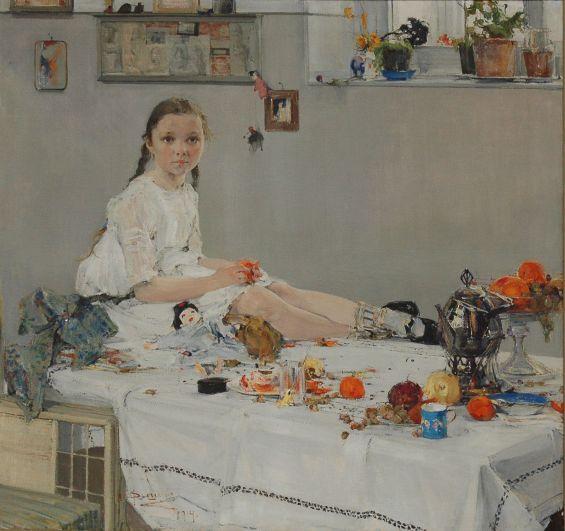 Николай Фешин. «Портрет Вари Адоратской», 1904 год.