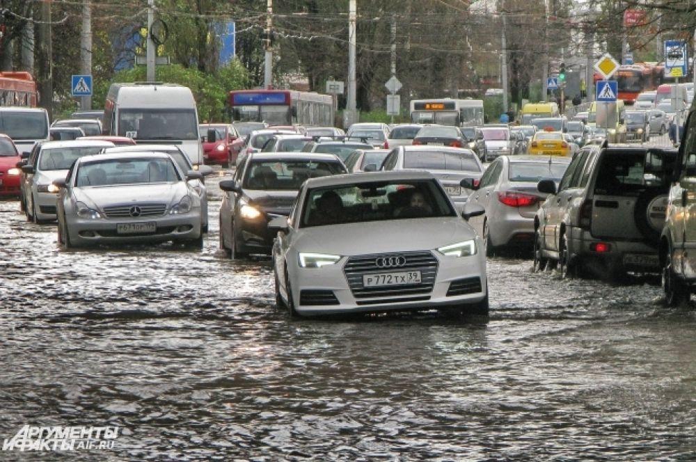 Потоп в Калининграде.