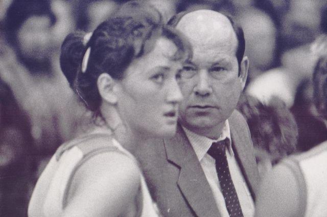 Ирина Минх с легендарным тренером Леонидом Ячменевым.