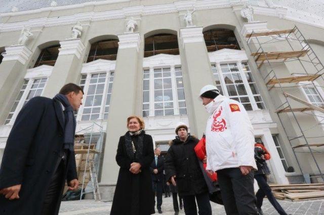 Под конец визита Ольга Голодец проинспектировала строительство «Екатеринбург Арены» к ЧМ-2018.