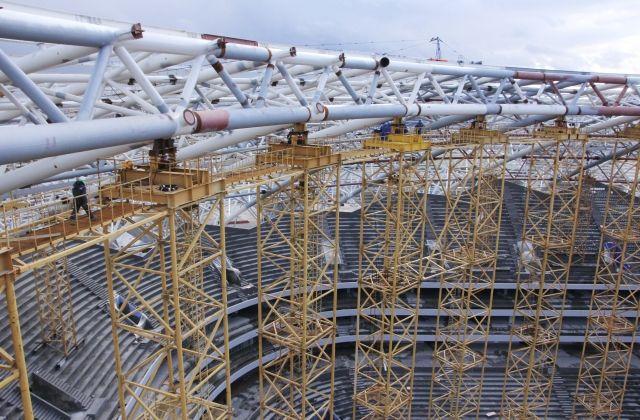Началось раскружаливание стадиона «Самара Арена»