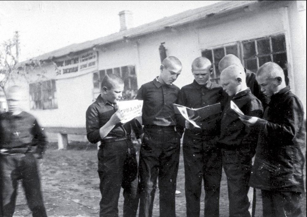 Воспитанники колонии для беспризорных, г. Днепропетровск, 1934 год.