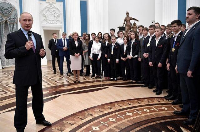 Южноуральцев в числе прочих победителей принимал в Кремле президент страны..